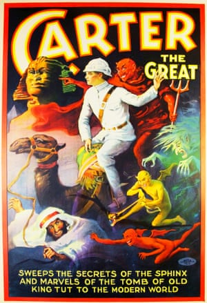 Poster for US stage magician Carter the Great (Charles Joseph Carter), 1923