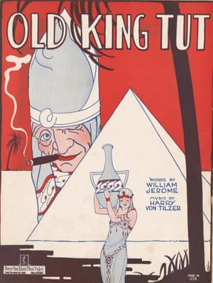 Sheet music cover of Old King Tut by William Jerome and Harry von Tilzer, 1923