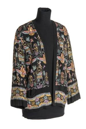 Black jacket with Egyptian motifs, c1930