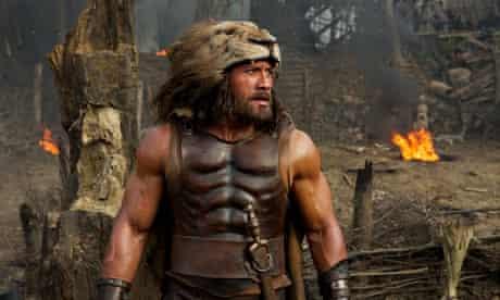 Close but no cigar … Dwayne Johnson as Hercules.