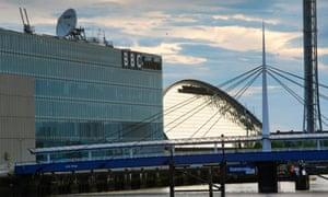 BBC Scotland's television and radio studio complex at Pacific Quay, Glasgow.