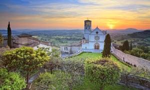 Basilica of San Francesco, Assisi in central Umbria