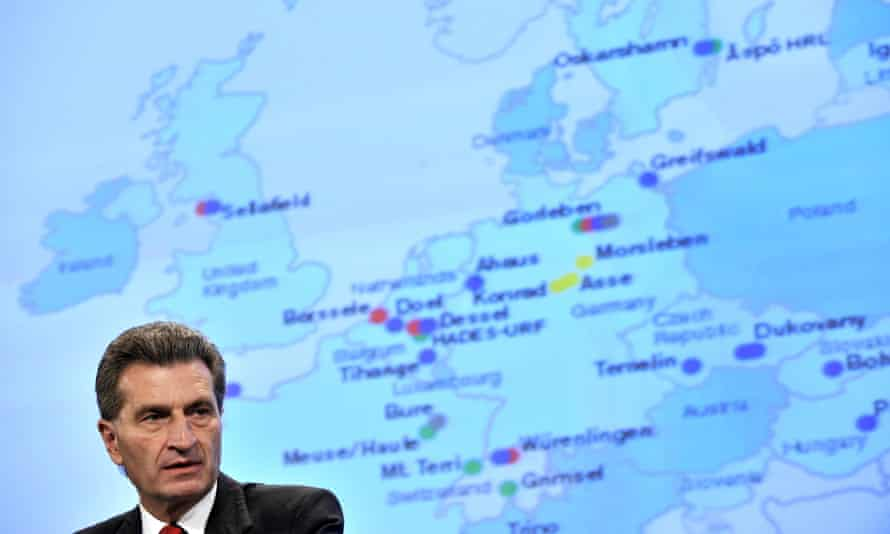 EU energy commissioner Günther Oettinger said of the energy-saving goal: 'It is ambitious and at the same time it is realistic'