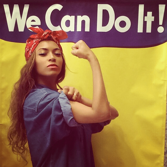 Beyoncé's Instragram depiction of Rosie the Riveter