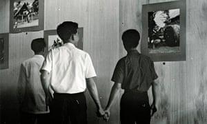 Danh Võ's Good Life (2007) included this 1962 photograph, Cultural Boys, Saigon, taken by Joseph Car