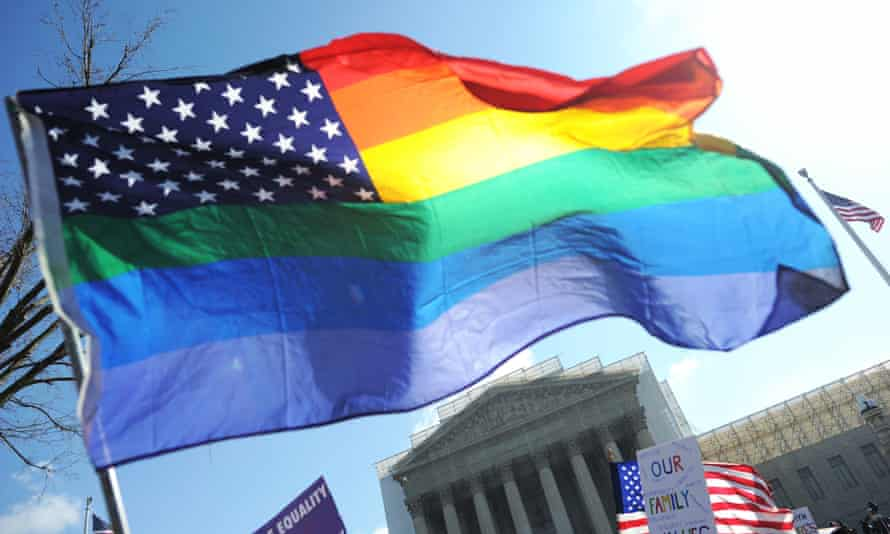 US gay marriage flag