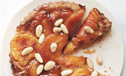 mary-ellen mctague's nectarine and almond tart
