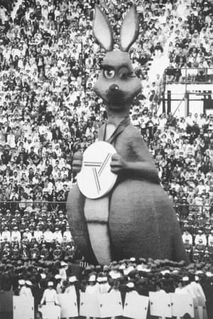 opening ceremonies: Matilda, the giant motorised mascot of the 12th Commonwealth games