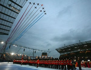 opening ceremonies: The Red Arrows DURING THE OPENING CEREMONY OF THE ...