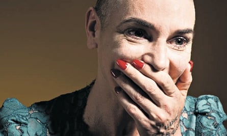 Portrait of singer songwriter Sinéad O'Connor