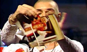 Sinead O'Connor tears up a picture of the pope on Saturday Night Live in 1992.