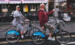Boris bike: Barry and Chris Smith