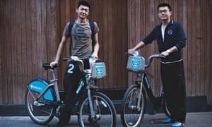 Boris bike: Tony Wong and David Wang