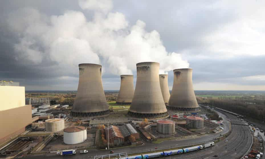 Drax Power Station near Selby, parts of which are being converted for biomass co-firing