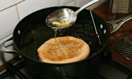Deep-frying the dough