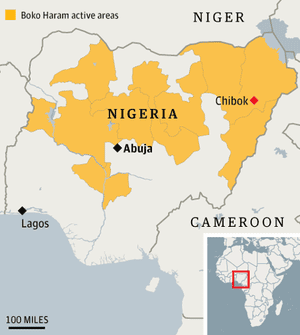 Boko Haram is now active across huge swaths of the country.