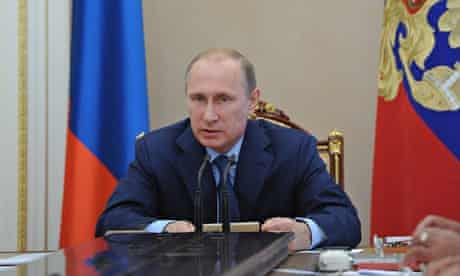 Vladimir Putin attend in Russian Security Council meeting