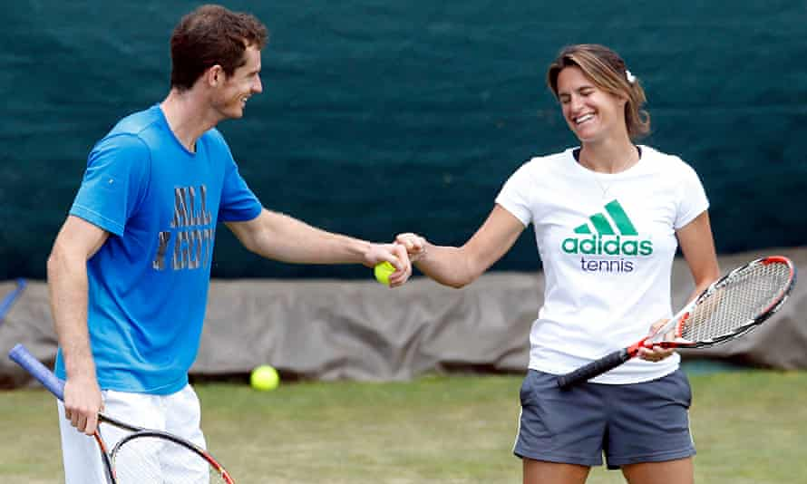 Tennis - Andy Murray with coach Amelie Mauresmo  File Photo