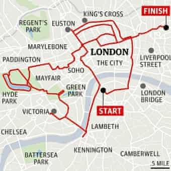 Boris bike route map