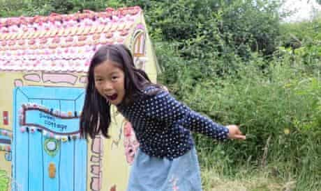 Girl with Hansel and Gretel house
