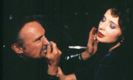 Dennis Hopper and Isabella Rossellini in Blue Velvet.