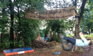 Baltic Street adventure playground in  Dalmarnock offers much needed free play to the children of Glasgow's East End