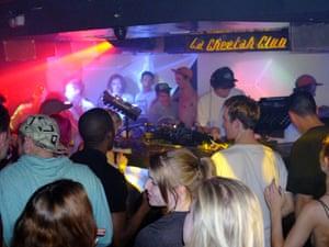 Getting sweaty: basement club La Cheetah, beneath Max's Bar.
