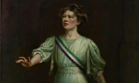 Christabel Pankhurst by Ethel Wright, which was first exhibited in 1909.