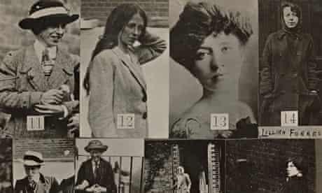 Police surveillance photographs of militant suffragettes