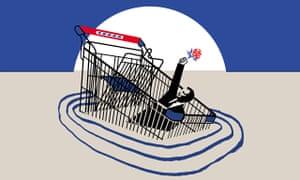 tesco and tony blair shopping basket