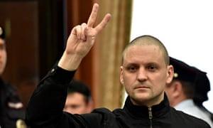 Sergei Udaltsov, leader of the socialist Left Fron
