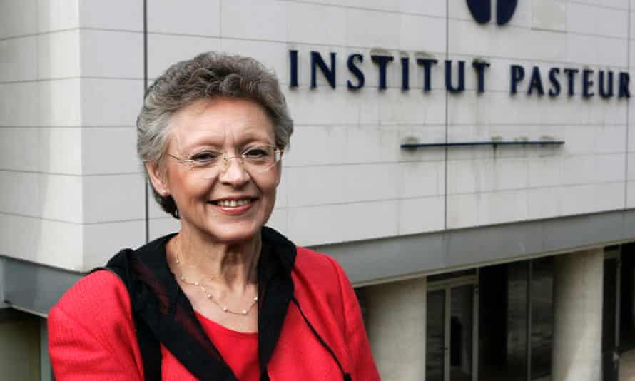 Barre-Sinoussi, outside the Pasteur Institute in Paris after she was announced as joint recipient of the Nobel Prize in medicine in 2008.