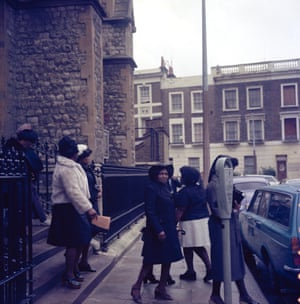 One of Charlie's oldest funeral photographs, All Saint's Church, London, 1968.