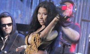 Nicki Minaj performing in Philadephia on 4 July 2014.