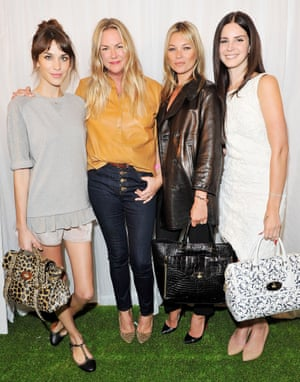 Alexa Chung, Emma Hill, Kate Moss and Lana Del Rey backstage at the Mulberry SS13 show.