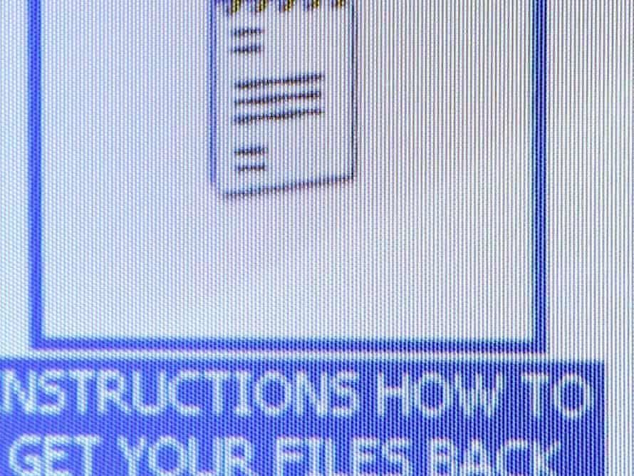 The instructions file Nurse Helen Barrow, found on her desktop after becoming the first UK victim to be held to ransom by computer fraudsters using Ransomware in 2006.