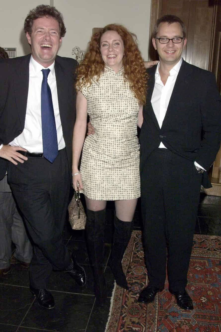 Happier days: Piers Morgan, Rebekah Brooks and Andy Coulson, 2004.