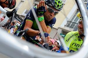 Best TDF 2014: Movistar procycling team rider Alejandro Valverde shares a joke