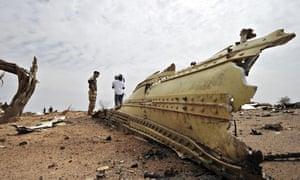 Wreckage from Air Algérie flight AH5017