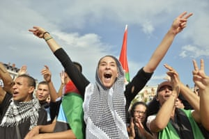 Demonstrations against Gaza/Israel conflict were held in many french cities, including Lyon.