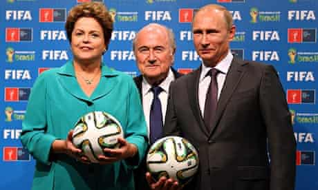hand over of the FIFA World Cup from Brazil to Russia