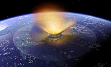 Asteroid bad timing killed off dinosaurs data