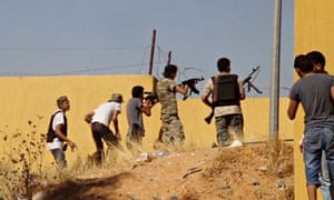 Misrata brigade fighters fire at Tripoli airport