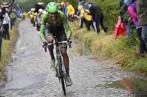Best TDF 2014: Belkin Procycling team rider Lars Boom of Netherlands leads the break-away