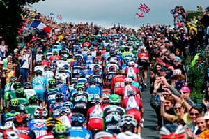 Best TDF 2014 The riders in climb during the 1st Stage