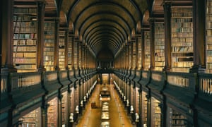 The Long Room in the  Library at Trinity College, Dublin