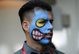 "Robert Ayatte portrays the Batman villian ""Two-Face"""