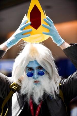 Ice King Dylan Blasenak puts on his crown.