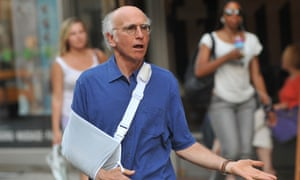 Larry David on location for Curb Your Enthusiasm