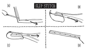 how to mend replace broken zip slip stitching